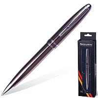 """Ручка бизнес-класса шариковая BRAUBERG """"Oceanic Grey"""", корпус серый, серые детали, 1 мм, синяя, 141420"""