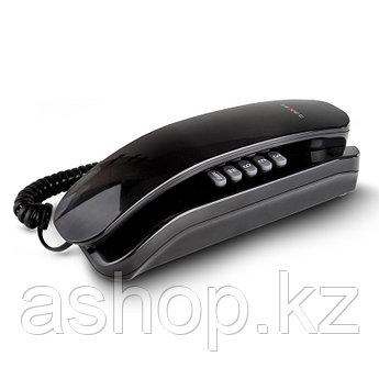 Телефон проводной Texet TX-215, Режимы: Тональный, импульсный, Цвет: Чёрный, Упаковка: Картонная коробка