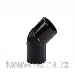 Полиэтиленовый отвод 45* 160 мм SDR 11/ 17