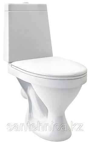 """Унитаз-компакт """"Прайм"""" Santeri Белый косой выпуск нижний подвод воды полипропилен, фото 2"""