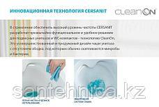 """Унитаз-компакт """"City New Clean On"""" Cersanit Белый горизонтальный выпуск нижний подвод воды дюропласт легкосъемная Slim крышка easy-off, фото 2"""