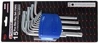 Набор ключей TORX Г-образных, 15пр. в пластиковом держателе Forsage F-5151