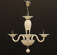 Подвесная люстра на 3 рожка белое стекло, фото 1