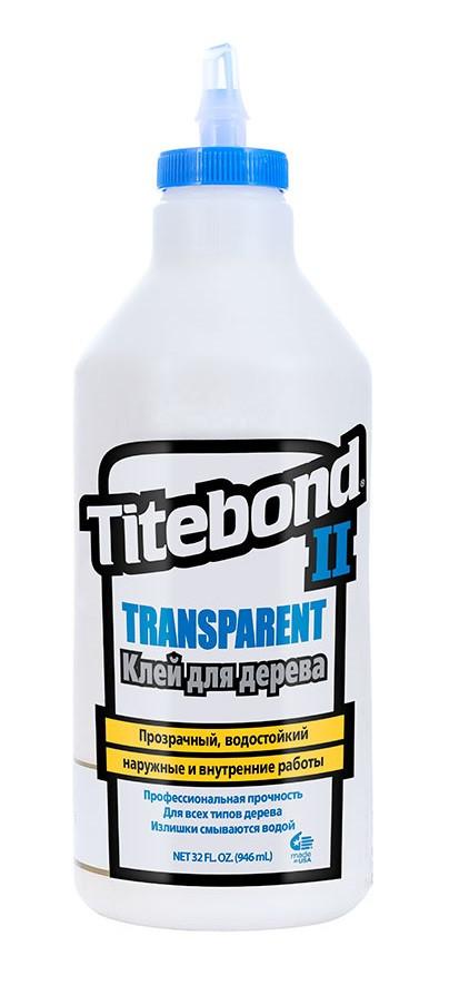 Клей Titebond II столярный влагостойкий прозрачный 946 мл