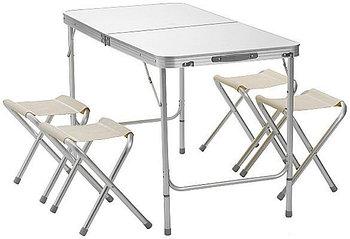 Стол складной  для пикника туристический 120 х 60 см и четыре стула.