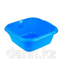 Таз пластмассовый квадратный 12 л, голубой, Россия Elfe