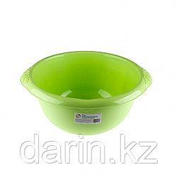 Таз пластмассовый круглый 9 л, зеленый, Россия Elfe