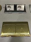 Лючок напольный на 6 модулей, металл, цвет золото, фото 5