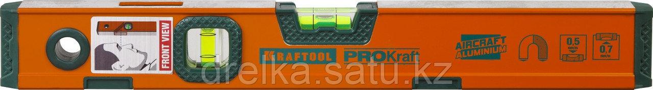"""Уровень KRAFTOOL """"KRAFT-MAX"""" магнитный, особо усилен, 2 ампулы, 2 фрезерованные базовые поверхности, 40см"""