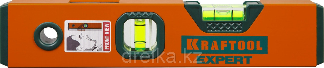 "Уровень коробчатый ""EXPERT"", KRAFTOOL 34710-025, 2 ампулы, 0,5 мм/м, 250мм"