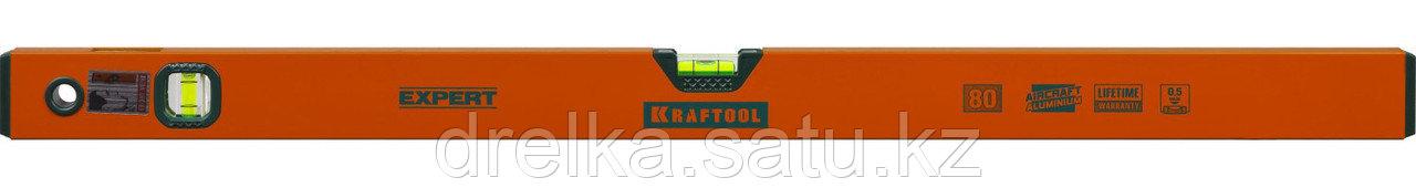 Уровень коробчатый, KRAFTOOL 34710-080, 2 ампулы, 0,5 мм/м, 800мм