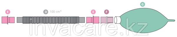 Контур дыхательный (Растяжимый) Plasti-med гладк 22F/22F, 2 влагосб, взр, доп линия, резерв мешок - фото 3