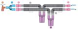 Контур дыхательный (Растяжимый) Plasti-med гладк 22F/22F, 2 влагосб, детск, доп линия, резерв мешок, фото 2