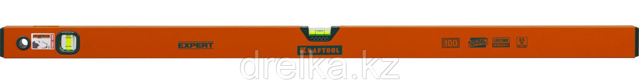 "Уровень коробчатый ""EXPERT"", KRAFTOOL 34710-100, 2 ампулы, 0,5 мм/м, 1000мм"