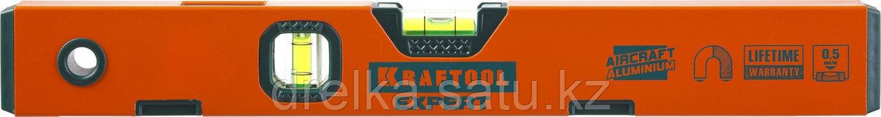 "Уровень KRAFTOOL ""PROKRAFT-M"" коробч. магнит., 2 ампулы, 0,5 мм/м, 400мм"