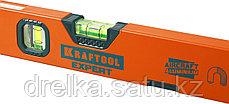 "Уровень KRAFTOOL ""PROKRAFT-M"" коробч. магнит., 2 ампулы, 0,5 мм/м, 400мм , фото 3"