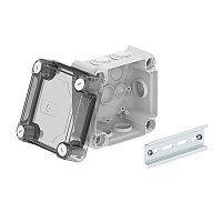 Распределительная коробка T60, 114x114x74 мм, сплошная стенка, высокая прозрачная крышка T 60 OE HD TR