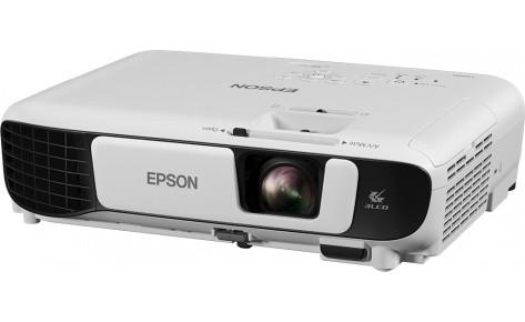 Проектор Epson EB-X41 V11H843040, LCD:3 P-Si TFT, XGA (1024x768), VGA, RCA, HDMI, USB, Wi-Fi (опционально),SEC