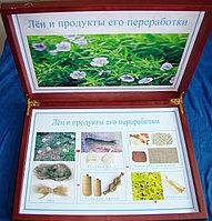 Коллекция Лён и продукты его переработки (дерев.коробка)