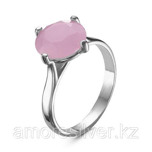 Серебряное кольцо с кварцем розовым   Красная Пресня 2332715ДК