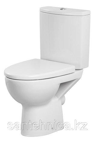 """Унитаз-компакт """"Parva New Clean On"""" Cersanit Белый гориз. выпуск нижний подвод воды дюропласт съемная крышка , фото 2"""