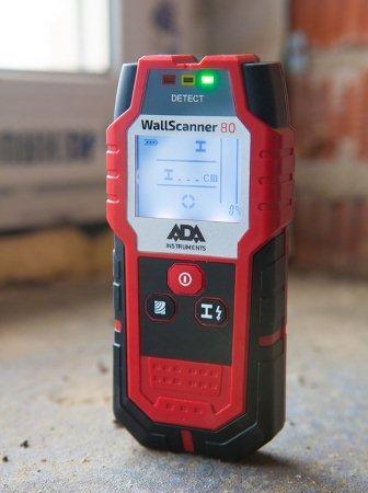 Детектор проводки, металлов и дерева ADA Wall Scanner 80 — незаменимый помощник при строительстве и ремонте