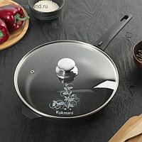 Сковорода «Традиция», 26×6 см, стеклянная крышка, съёмная ручка