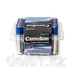 Батарейка, CAMELION, R03P-PB24B, Super Heavy Duty, AAA, 1.5V, 550 mAh, 24 шт., Пластиковый кейс