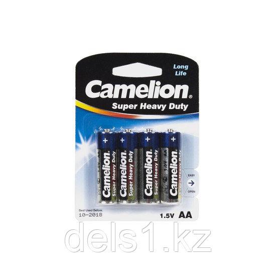 Батарейка, CAMELION, R6P-BP4B, Super Heavy Duty, AA, 1.5V, 1050mAh, 4 шт., Блистер