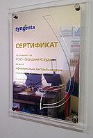 Наградной сертификат из акрила, фото 1