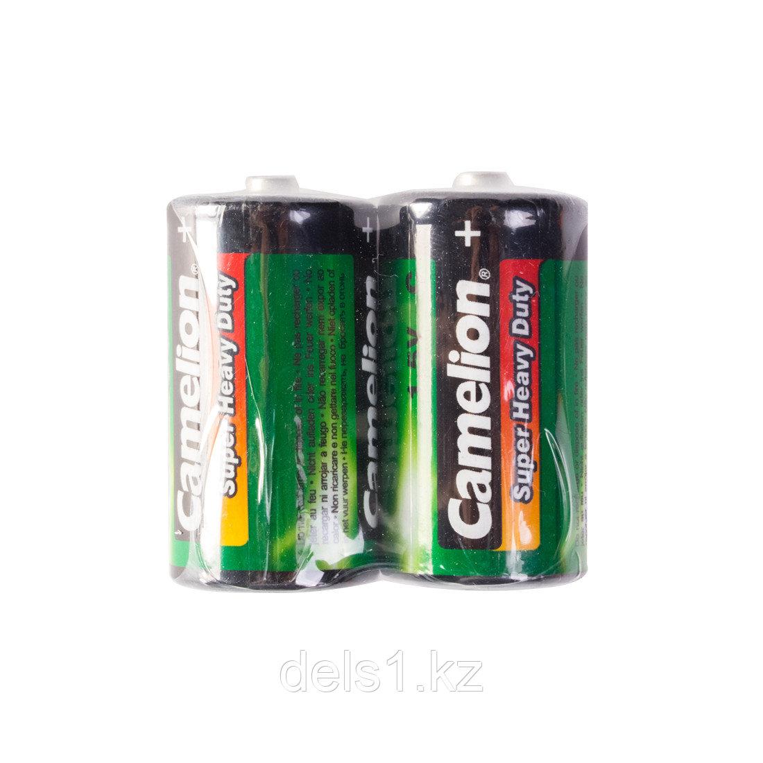 Батарейка, CAMELION, R14P-SP2G, Super Heavy Duty, C, 1.5V, mAh, 2 шт., пленка