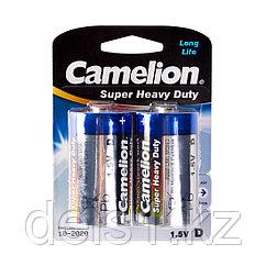 Батарейка, CAMELION, R20P-BP2B, Super Heavy Duty, D, 1.5V, mAh, 2 шт., Блистер