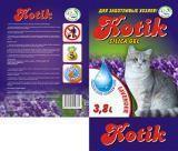 Котик, 3,8 л.(1,7кг) Лаванда Силикагелевый наполнитель для кошачьего туалета