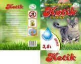 Котик, 3,8 л. (1,7кг) Яблоко Силикагелевый наполнитель для кошачьего туалета