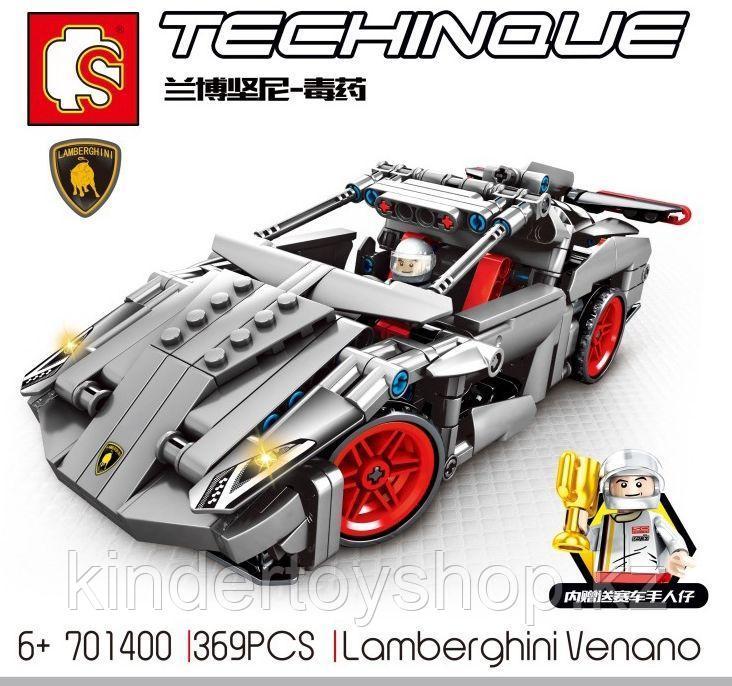 Конструктор Senbao 701400 гоночный спортивный автомобиль Ламборджини венено аналог лего Lego Technic