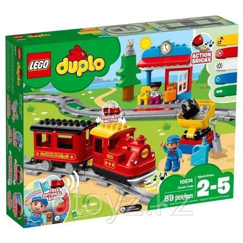 LEGO Duplo 10874 Поезд на паровой тяге конструктор Лего Дупло