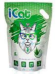 ICat aloe силикагелевый наполнитель с ароматом «алое вера» 5 л