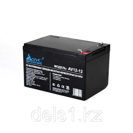 Батарея, SVC, AV12-12 12В 12 Ач, Размер в мм.: 150*98*95