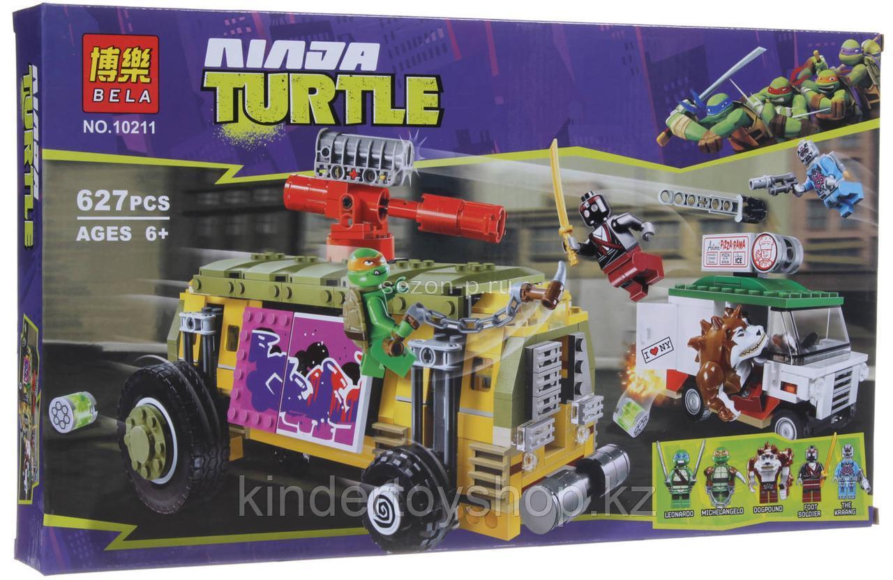 """Конструктор Bela 10211 Ninja Turtles """"Преследование на грузовике Черепашек"""" аналог LEGO:79104 627 деталей"""