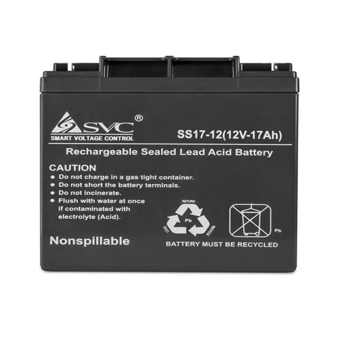 Батарея, SVC, 12В 17 Ач, Размер в мм.: 166*78*182