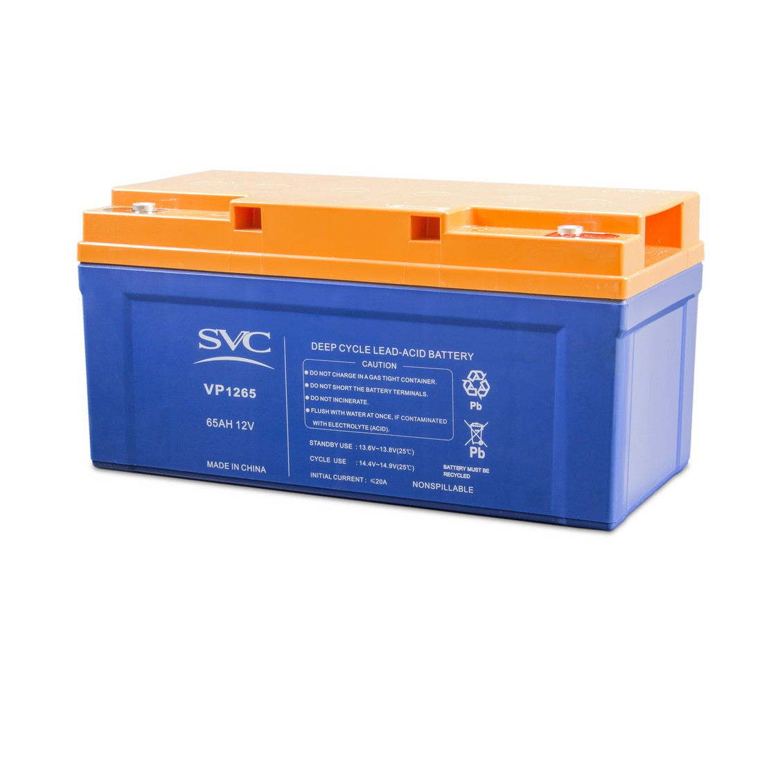 Батарея, SVC, 12В 65 Ач, Размер в мм.: 179*167*350