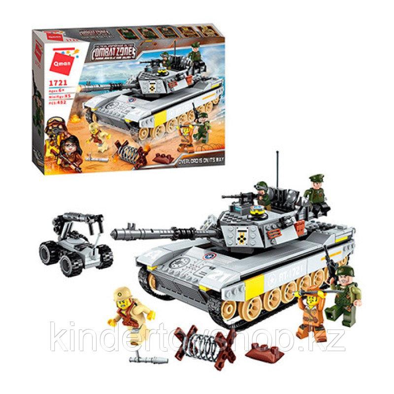 Конструктор COMBAT ZONE BRICK 1721 Танк аналог лего Lego 482 детали