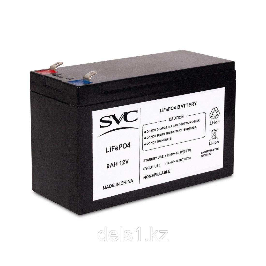 Батарея, SVC, 12V 9Ah LiFePO4 , Размер в мм.: 95*151*65