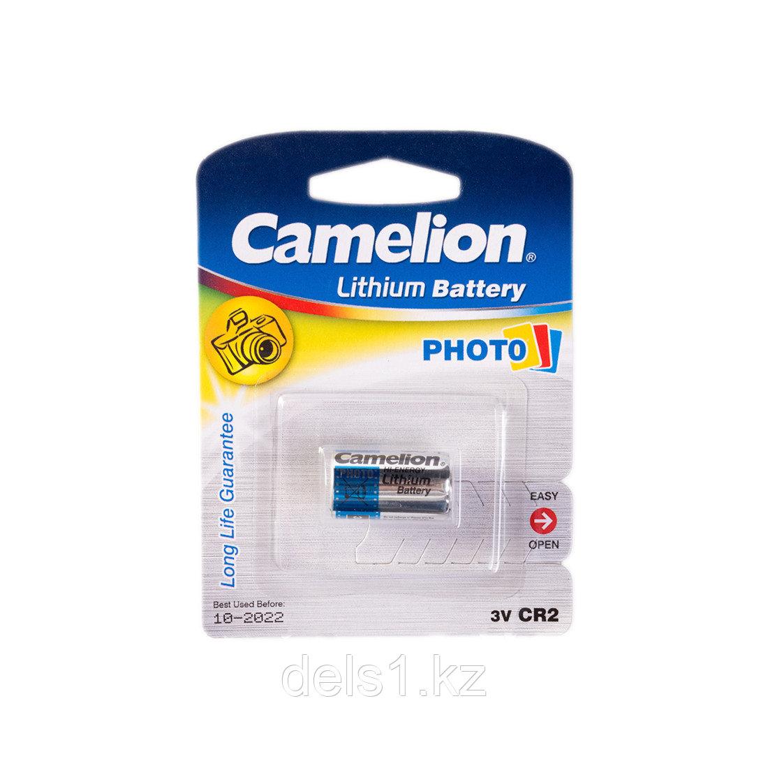 Батарейка, CAMELION, CR2-BP1, Lithium, 3V, 1 шт., Серебристый