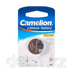 Батарейка, CAMELION, CR2450-BP1 Lithium Battery, CR2450, 3V, 220 mAh, 1 шт.