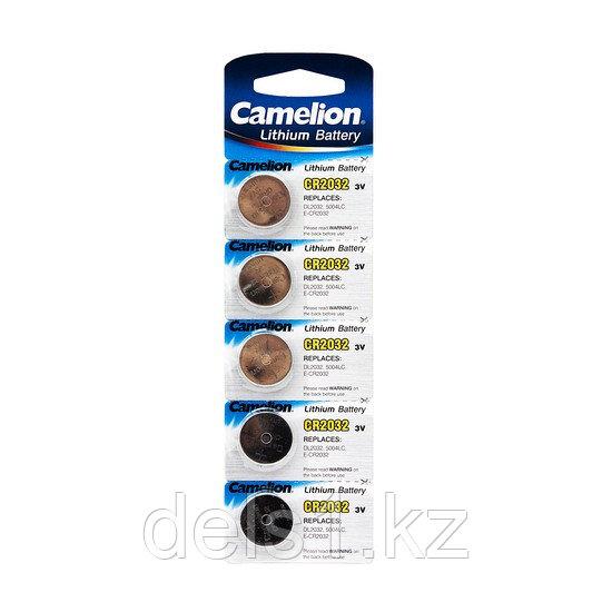 Батарейка, CAMELION, CR2032-BP5, Lithium Battery, CR2032, 3V, 220 mAh, 5 шт.