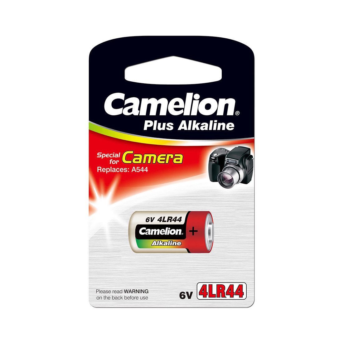 Батарейка, CAMELION, 4LR44-BP1C, Photo Plus Alkaline, 6V, 150 mAh, 1 шт., Блистер