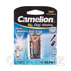 Батарейка, CAMELION, 6LR61-BP1DG, Digi Alkaline, 6F22(крона), 9V, 680 mAh, 1 шт., Блистер