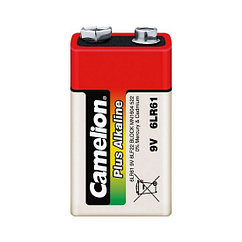 Батарейка, CAMELION, 6LR61-BP1, Plus Alkaline, 6F22(крона), 9V, 680 mAh, 1 шт., Блистер
