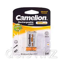 Аккумулятор, CAMELION, NH-9V200BP1, Rechargeable, Lockbox Rechargeable, 6F22(крона), 9V, 200 mAh, 1 шт., Блист